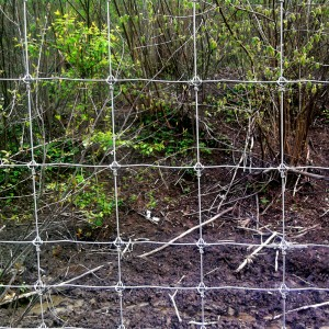 fix knoted fence mesh