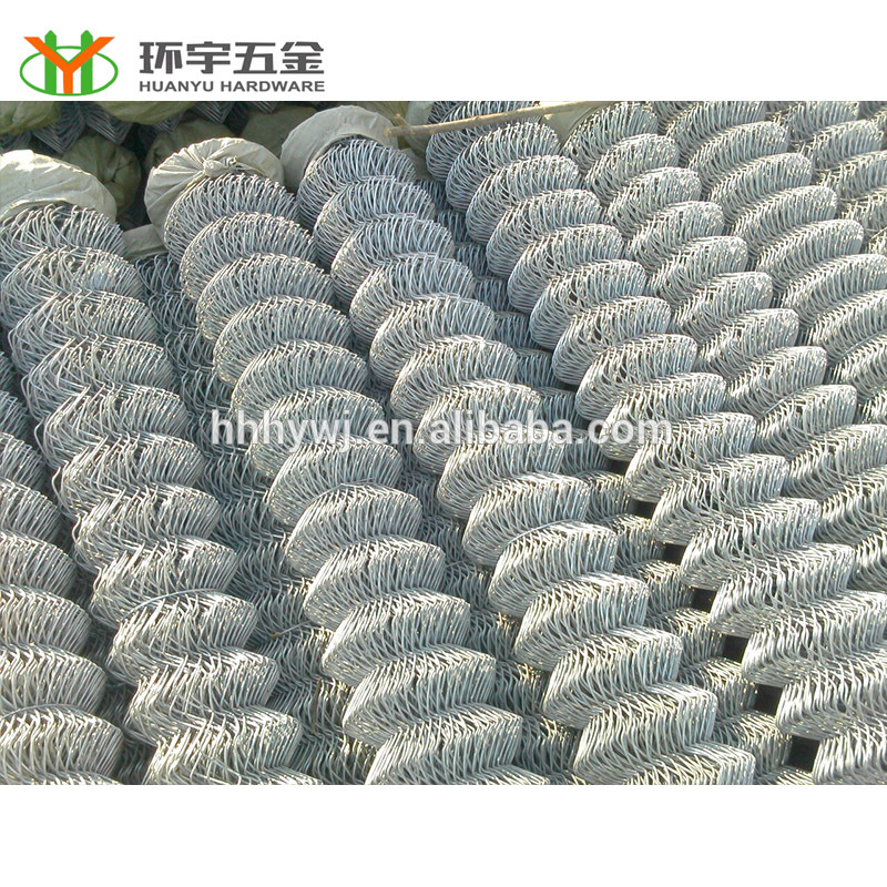 Hot sale! Galvanized chain link fence with ISO quality