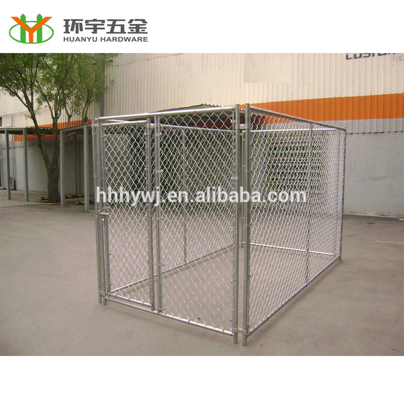Classic luck dog kennel with chain link wire mesh