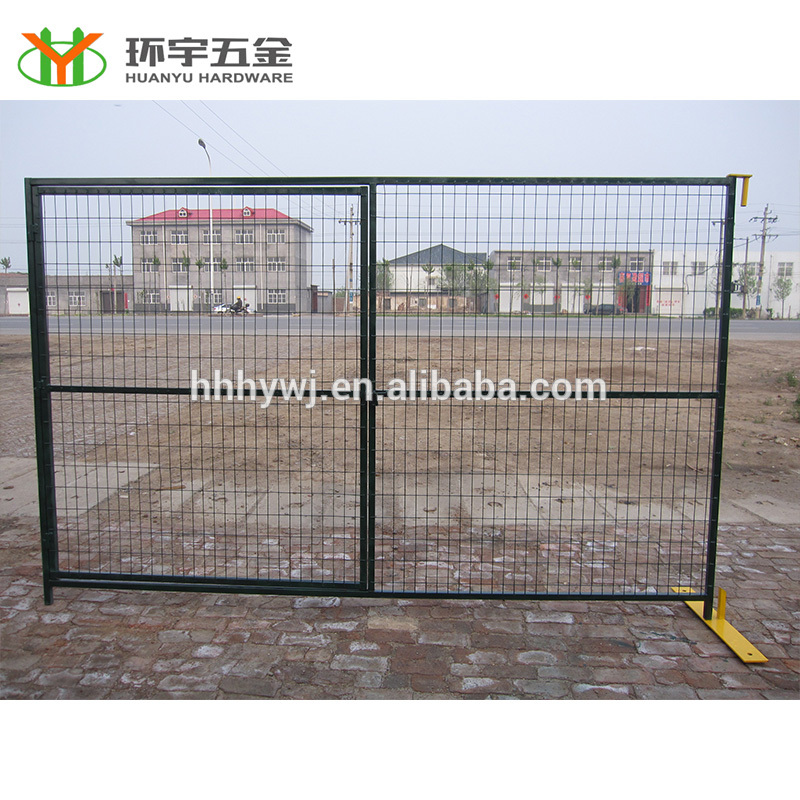 6×10 powder coated temporary fence gate panel