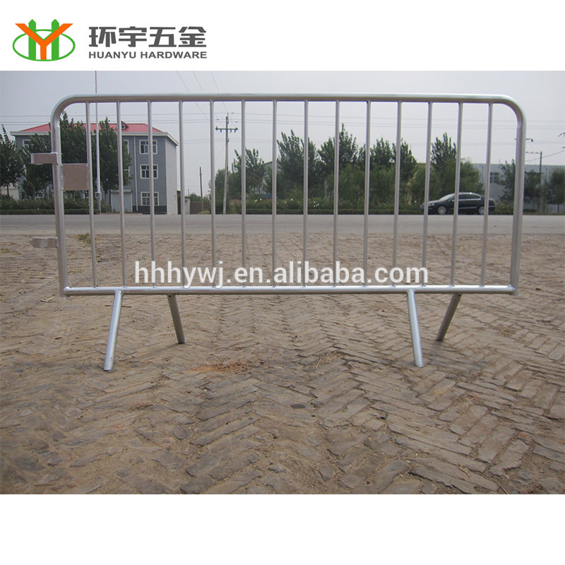Best price galvanized Crowd Control Barrier/portable steel barrier/metal crowd stop fence