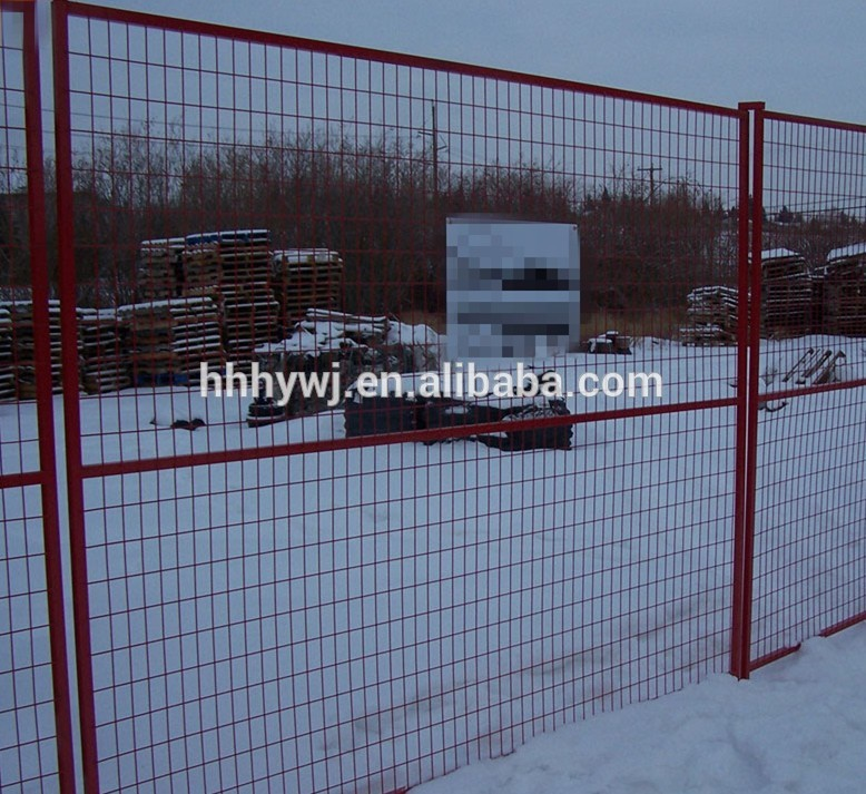 6ft*9.5ft powder coated temporary fence panels