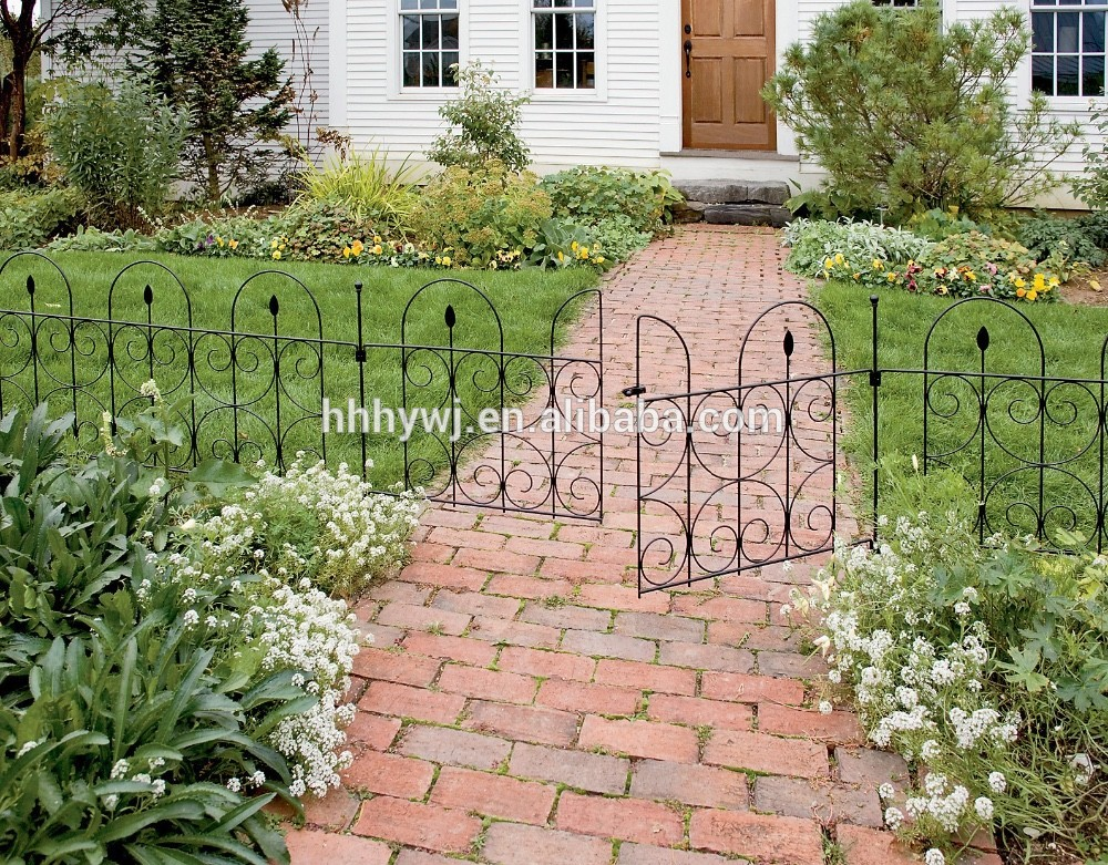 Chinese supplier powder coated garden border fence