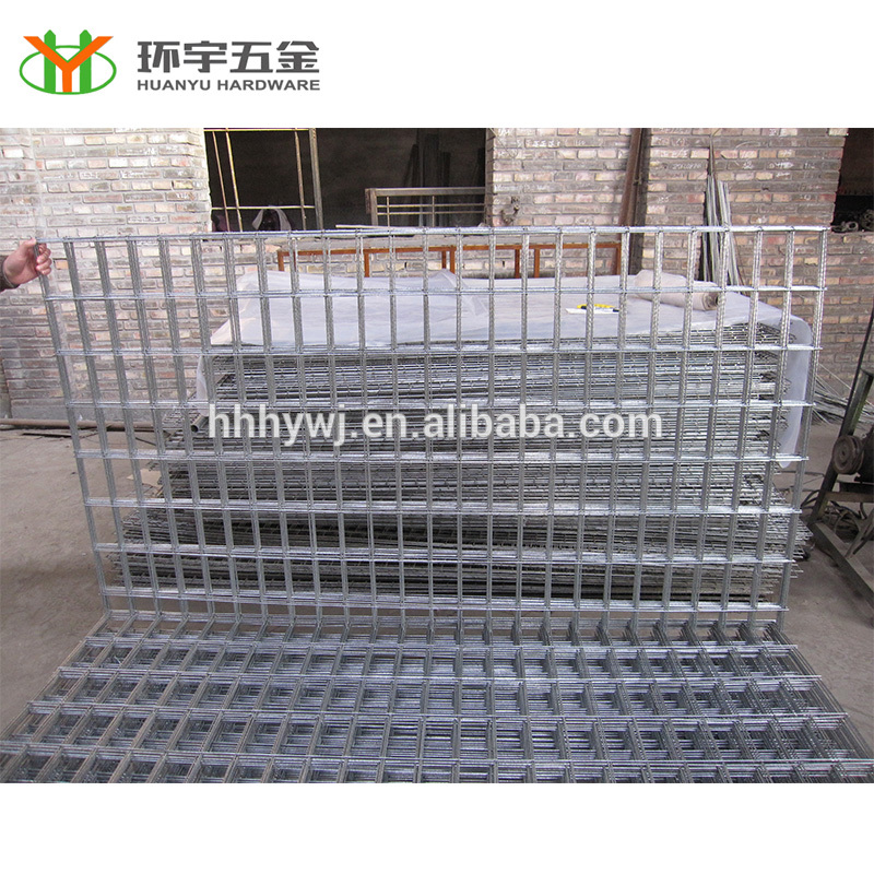 hot dipped galvanized 4×4 welded wire mesh fence in panel