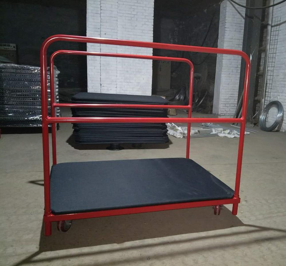 high quality 4 wheel carts platform hand truck