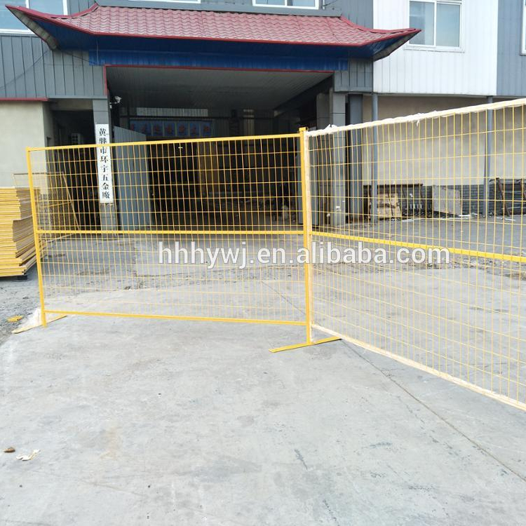 Powder Coated portable metal fence panels for sale
