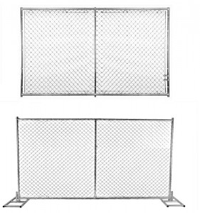 6×12 chain link wire temporary fence panels