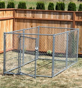 Outdoor chain link wire mesh large dog kennel 10x10x6ft