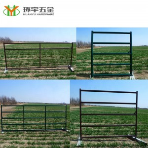 5 Bar Powder coated farm gates hot sale