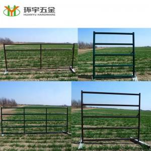 5 Bar Powder coated farm gates hot sale