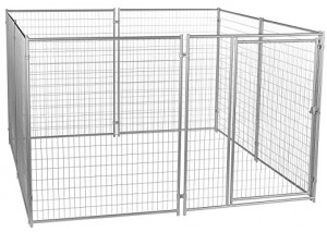 Outdoor welded wire mesh large dog kennel 10x10x6ft
