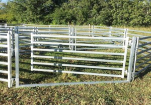 Galvanized sheep panel gate man gate